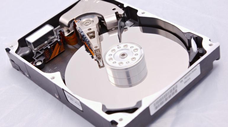 Une disque dur d'un ordinateur de bureau