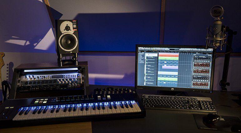 studio d'enregistrement audio.
